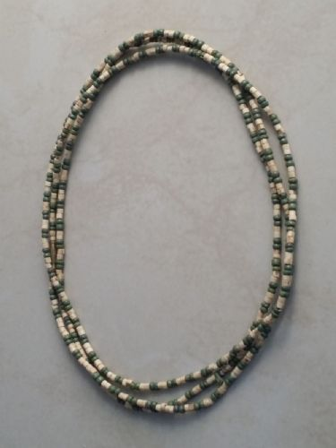 Tulsi Neck Beads Mixed With Green Beads [Three loops around the neck]